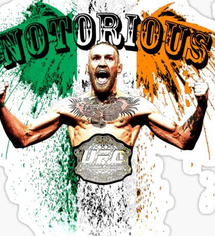 Conor McGregor Notorious UFC Sticker
