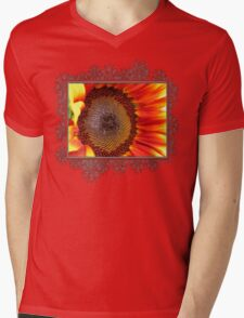 Sunflower from the Color Fashion Mix Mens V-Neck T-Shirt