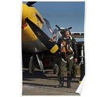P.51D  Mustang Pilot Poster