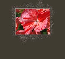 Zonal Geranium named Mosaic Red Womens Fitted T-Shirt