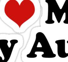 I Love My Gay Aunt Sticker