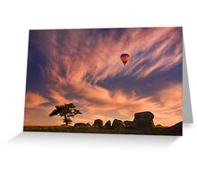 Passing by - Dog Rocks Greeting Card