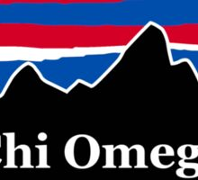 Chi Omega Red White and Blue Sticker
