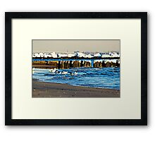 Snow On The Jetty Framed Print