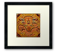 Chinese Dragon Needlepoint Framed Print