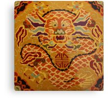 Chinese Dragon Needlepoint Metal Print