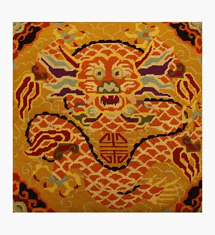 Chinese Dragon Needlepoint Photographic Print