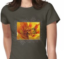 Portulaca in Orange Fading to Yellow Womens Fitted T-Shirt