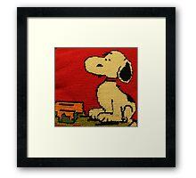 Hey Snoopy! Framed Print