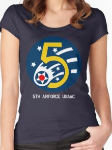 5th Airforce Emblem Women's Fitted Scoop T-Shirt