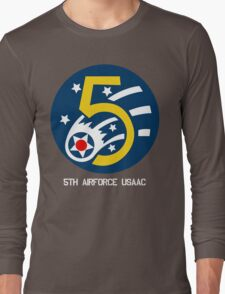 5th Airforce Emblem Long Sleeve T-Shirt