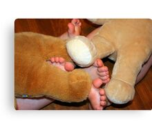 bear feet Canvas Print