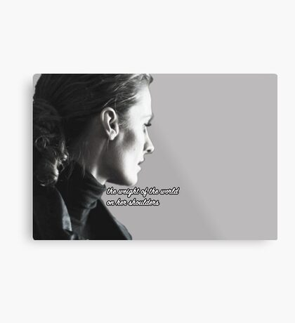 Kate Beckett weight of the world Metal Print
