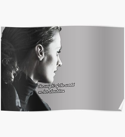 Kate Beckett weight of the world Poster