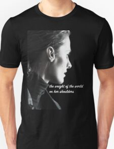 Kate Beckett weight of the world Unisex T-Shirt