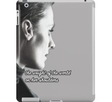 Kate Beckett weight of the world iPad Case/Skin