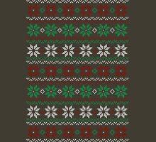 Poinsettia Christmas Sweater Unisex T-Shirt