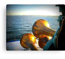 Horns on the Sound Canvas Print