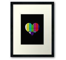 TV HEART Framed Print