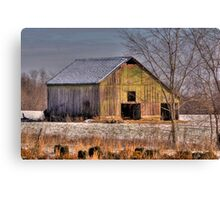 """""""Barn in Winter - East Tennessee"""" Canvas Print"""