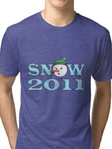 Snow 2011 Tri-blend T-Shirt