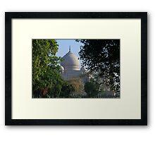 The Taj amongst the trees. Framed Print