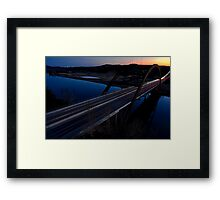 HDR 360 Bridge After Sunset 2011 Framed Print