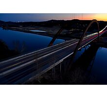 HDR 360 Bridge After Sunset 2011 Photographic Print