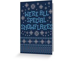Special Snowflake Greeting Card