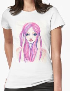 Crying girl  Womens Fitted T-Shirt