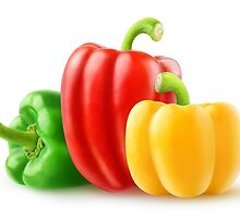 Colorful bell peppers by 6hands