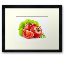 Tomatoes and lettuce Framed Print