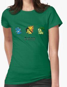 Retro Johto Starters Womens Fitted T-Shirt