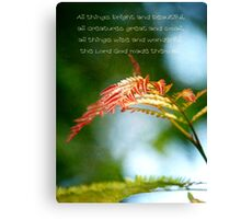 Religous Nature Photo I Canvas Print