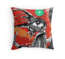 reaching for raven 11 Throw Pillow