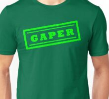 Gaper Stamp (Green) Unisex T-Shirt