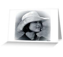 Asian Woman_Study Greeting Card