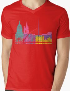 Dublin skyline pop Mens V-Neck T-Shirt