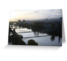 The river Clyde on  autumn  morning..... Greeting Card