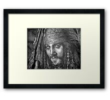 """Johnny Depp-Pirates of the Carribean"" Framed Print"
