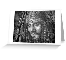 """""""Johnny Depp-Pirates of the Carribean"""" Greeting Card"""