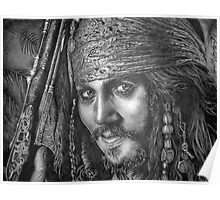 """Johnny Depp-Pirates of the Carribean"" Poster"