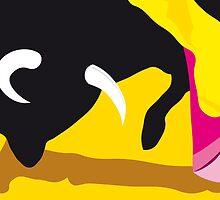 Bull and bullfighter. Corrida. by alvaroc