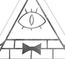 Bill Cipher Solo Ghost Print Sticker