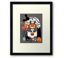 Creatures of the Night Spooky Color Option Framed Print