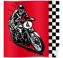Motorcycle classic retro vintage Poster
