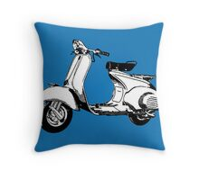 Scooter motorcycle classic Throw Pillow