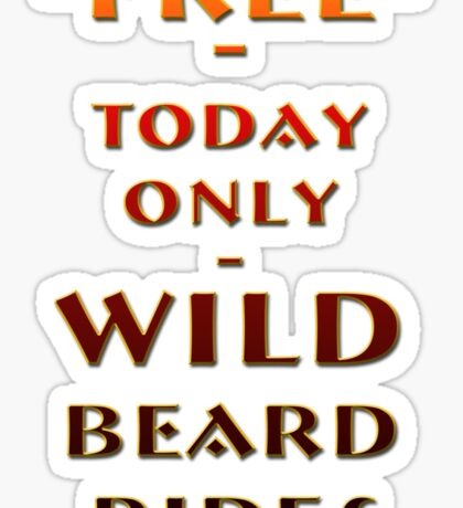 Beard Rides Sticker