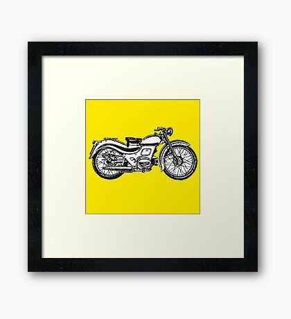 motorcycle classic Framed Print
