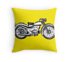 motorcycle classic Throw Pillow